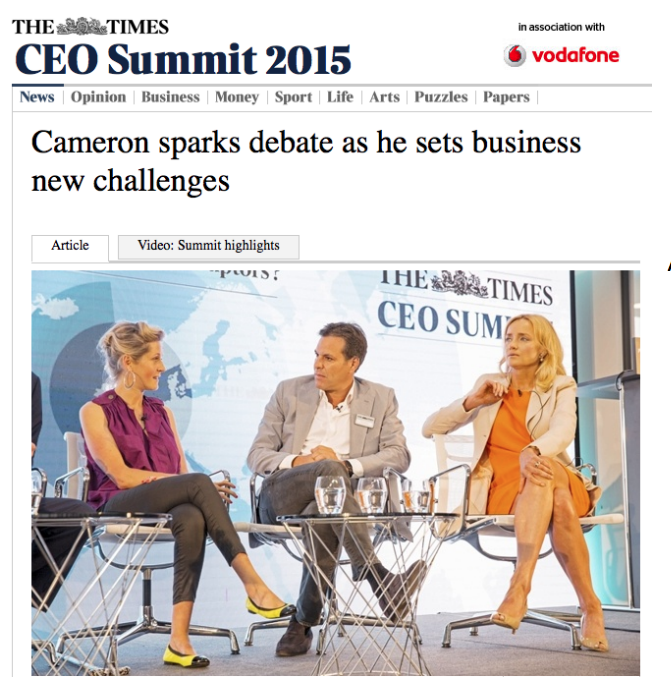 Julie Meyer, Chief Executive of Ariadne Capital, dressed in Michaela Jedinak at THE TIMES CEO SUMMIT