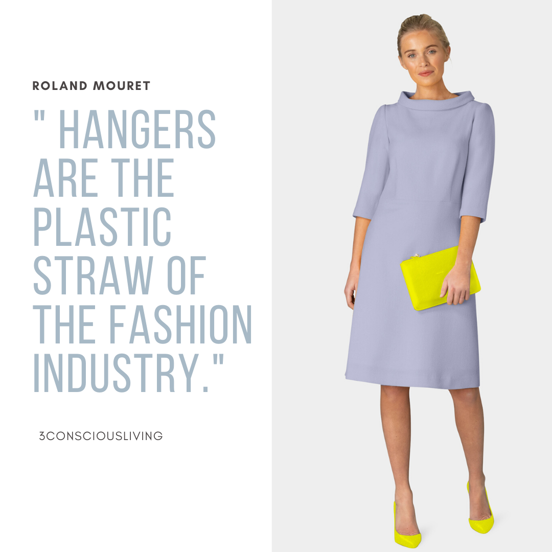 Hangers are the plastic straw of the fashion Industry.